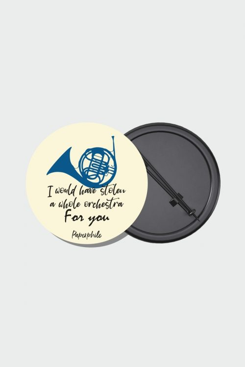 Blue French Horn – HIMYM Pin Badge