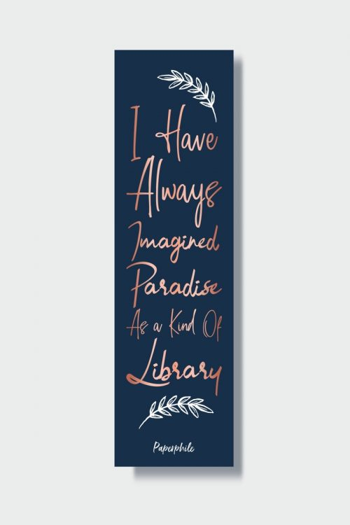 Paradise as a kind of library bookmark
