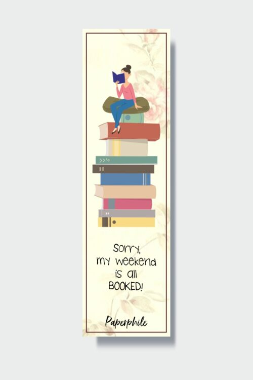 My Weekend is Booked Bookmark