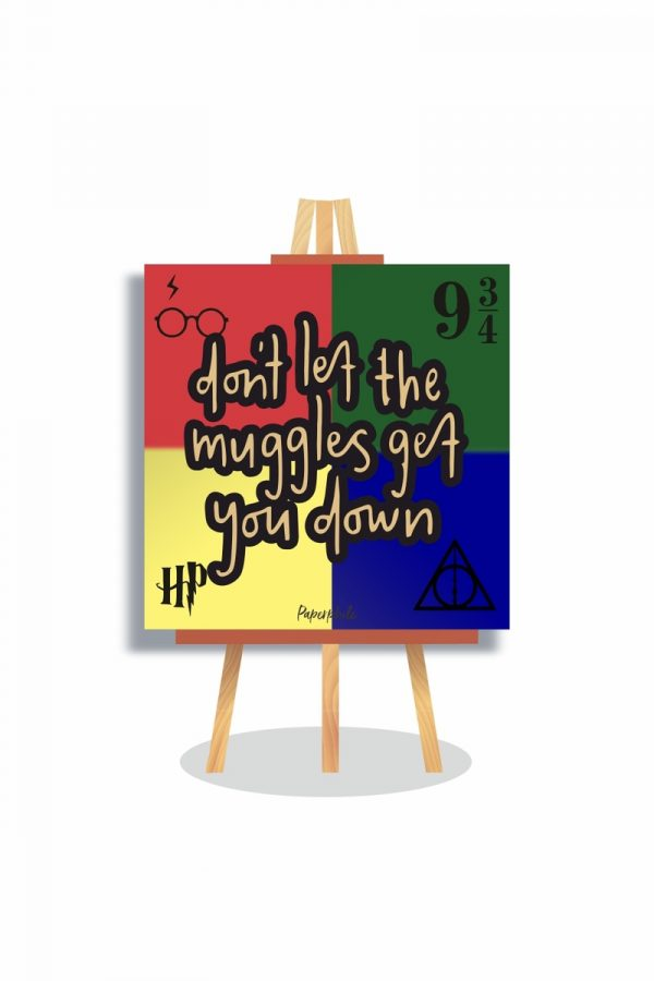 Buy don't let the muggles mini canva online