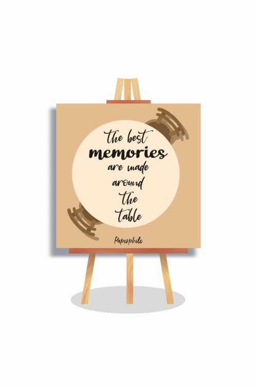 The Best Memories – Foodie Mini Canva Stand