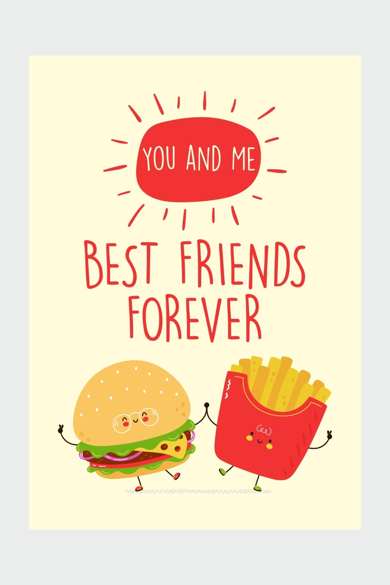 Best Friends Forever Ping Card