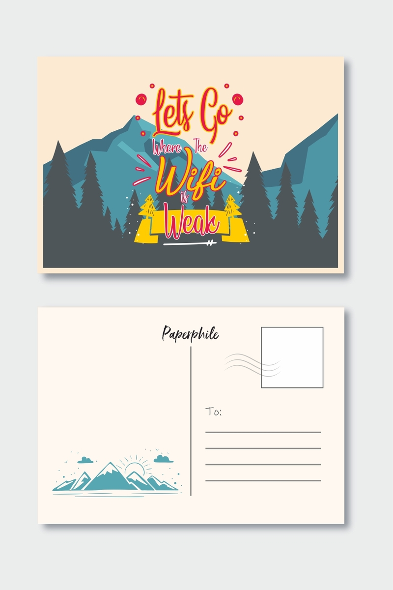 Let's go Where Wi-fi is weak – Travel Postcard