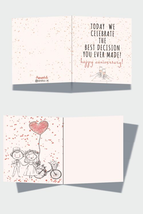 Best Decision – Happy Anniversary Greeting Card