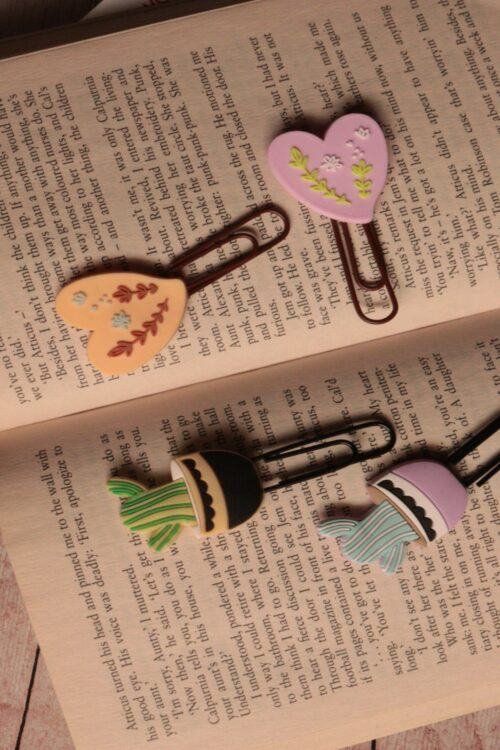 Pin Bookmark Combo of 4 – Plants and Heart