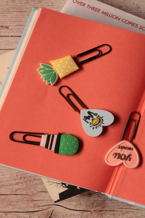 Pin Bookmark Combo of 4 – Hearts and Plants