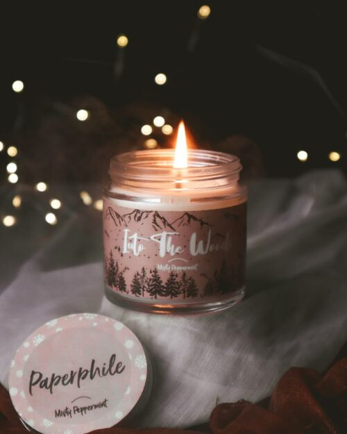 Into the Woods – Misty Peppermint Scented Soy Candle