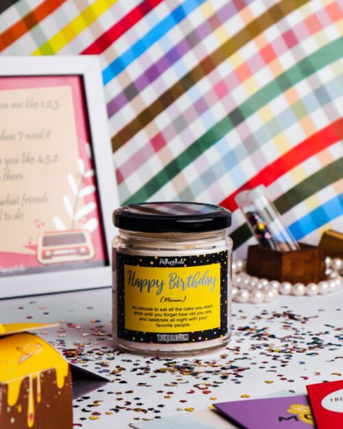 Happy Birthday – Bubblegum Scented Soy Candle