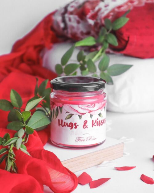 Hugs and Kisses – Fire Rose Scented Soy Candle